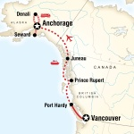 UGA Student Travel Vancouver & Alaska by Ferry & Rail for University of Georgia Students in Athens, GA